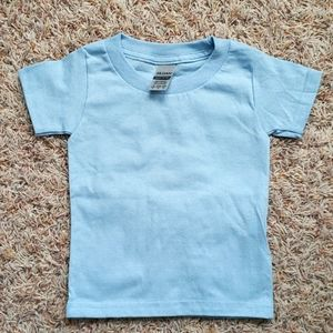 Blue Gildan Toddler Shirt